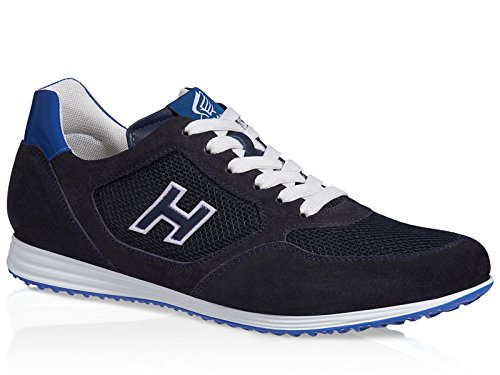 Basket Hogan Olympia X H205 en suède et tissu bleu foncé - Code modèle: HXM2050U670D88888D Bleu foncé
