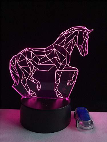 3D - LED - Nachtlicht, Tier - Kind - Spielzeug Pentium 3D Pferd, USB - Lampe 7 Farben, die Stimmungs - Nachtlicht - Birnen - Geschenk - Kind - Spielzeug Wohnkultur -