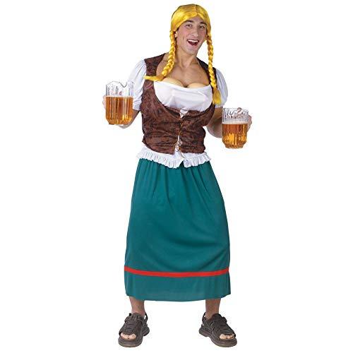 Chaks 130654 Kostüm Bayerin Männer Dirndl Fake-Brüste mit Spritz-Funktion Oktoberfest - Miss Oktoberfest Kostüm