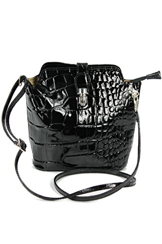 belli-little-genuine-italian-leather-handbag-shoulder-bag-black-patent-croc-embossing-18-x-20-x-8-cm