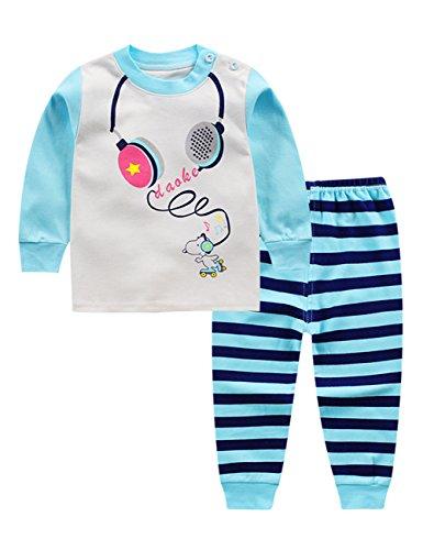 Unterwäsche Home folgt Cartoon Kleidung Zwei Teilig Set Pyjama, Écouteurs de Musique, 80/55 (Kids-couture-kleidung)