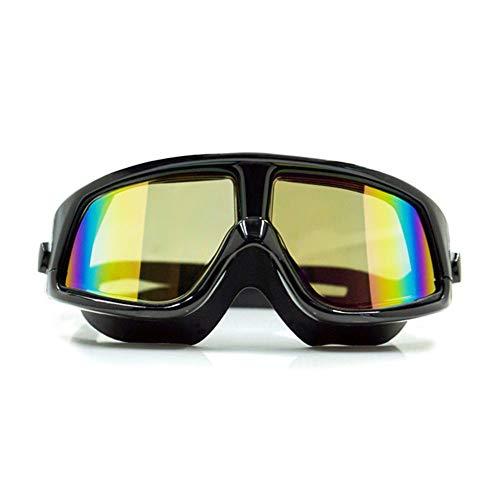 YKXIAOSI Schwimmbrille, Schwimmbrille Schutz gegen UV-Strahlen ohne Auslaufen Anti-Fog Crystal Clear Vision Large Box Schwimmbrille Flat Swimming
