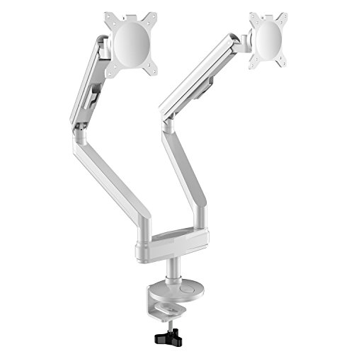 AIMEZO Heavy Duty Aluminium Dual Monitor Arm Tischhalterung Passend für 14