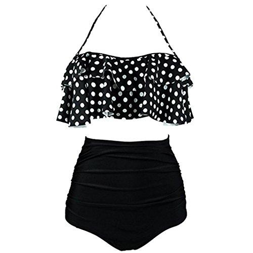GreatestPAK Badebekleidung Mädchen Kostüm Padded Dot Monokini Bademode Damen Plus Size Bikini Anzug - Troll Mädchen Kostüm