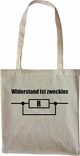 18de884e70e1e Mister Merchandise Tasche Widerstand ist Zwecklos Stofftasche ...