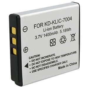 TOOGOO(R) High Capacity KLIC-7004 Digitalkamera Ersatz Lithium-Ionen-Akku kompatibel mit Kodak KLIC-7004, Fuji NP-50, Pentax D-LI68