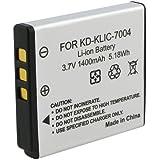 SODIAL(R) Batterie de lithium de haute capacite de KLIC-7004 l'appareil photo numerique Compatible avec Kodak KLIC-7004, Fuji NP-50, Pentax D-LI68