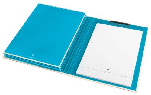 Semikolon Clipfolder mit Taschen turquoise (türkis) | Klemmbrett mit 3 Taschen, Metallclip und...