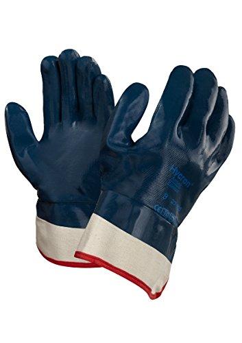Ansell Hycron 27-805 Gants oléofuges, protection mécanique, Bleu, Taille 11 (Sachet de 12 paires)