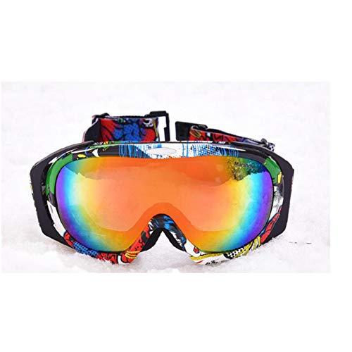 He-yanjing Hochwertige Skibrille, Over Brille Ski/Snowboard Brille für Männer, Frauen & Jugend, Kletterspiegel, Schutzbrille, Double Anti-Fog Sport Smart Brille (Farbe : Grün) - Grün Frauen-ski-schutzbrillen