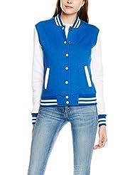 Urban Classics Damen Jacke Ladies 2-tone College Sweatjacket