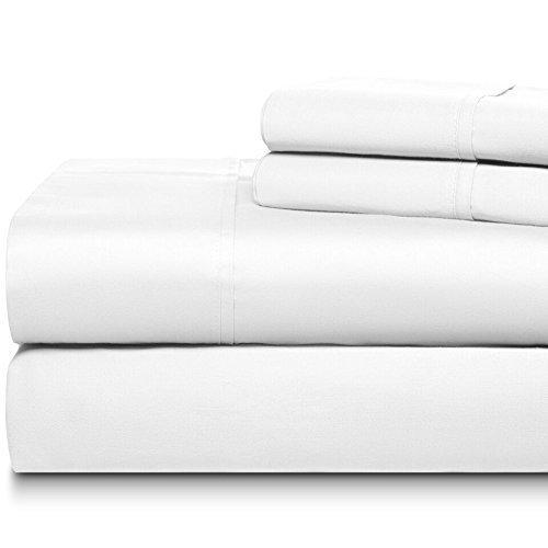 400Fadenzahl 100% Baumwolle Blatt Set Bright Weiß, bright white, King Size (Ralph Lauren-satin-king-blatt)