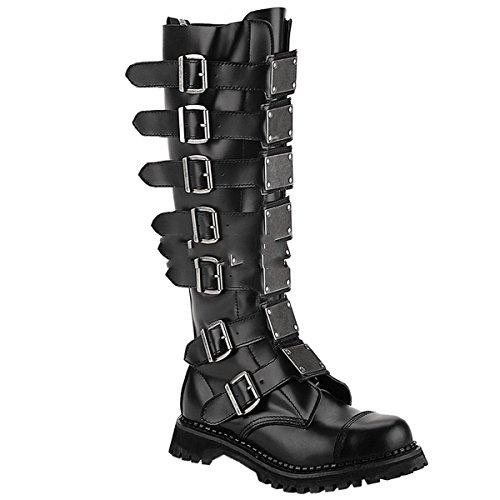 Demonia Reaper-30 - scarpe gotiche punk Industrial ranger stivali 36-48, US-Herren:EU-46 (US-M13)