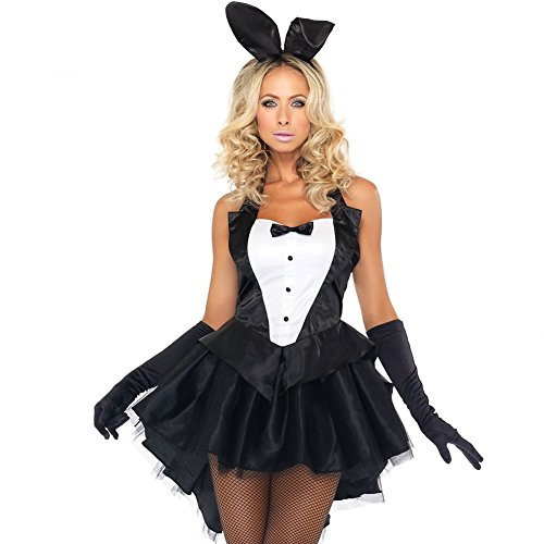 Damen Womens Bunny Girl Fancy Dress Outfit Spiel xy Rabbit Hen Party Cosplay(L) (Material Girl Fancy Dress Kostüm)