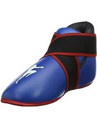 buy online 4e49e 1fff1 Adulte Bleu Bottes de Kickboxing SemiFull Contact Kick Boxing Bottes Pied  Pad Enfants Kick
