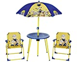 Despicable Me Minions kids outdoor table and chairs Garden Patio Outdoor Table & Chairs Set With Canopy