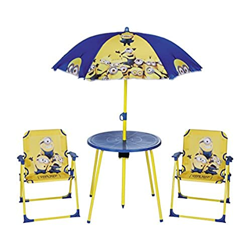 Despicable Me Minions Kidu0027s Outdoor Garden Patio Picnic Table U0026 Chair Set  For Children U0026 Toddlers, 4pc