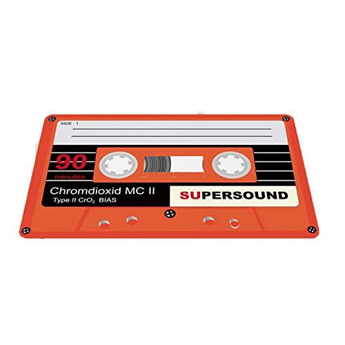 Hbwz Tape Fußmatte Vintage Eingang Anti-Rutsch-Fußmatte Magnetband Mix Teppiche Schlafzimmer Teppiche Dekorative Treppen Matten,Orange,50 * 80cm (Tape Eingang)