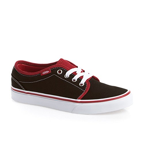 Vans 106 Vulcanized (2 Tone) Black / Chilli Pepper - adulte (homme ou femme) red