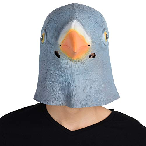 Finalshow Latex Animal Head Costume Pigeon Mask for Party  Gift  Halloween