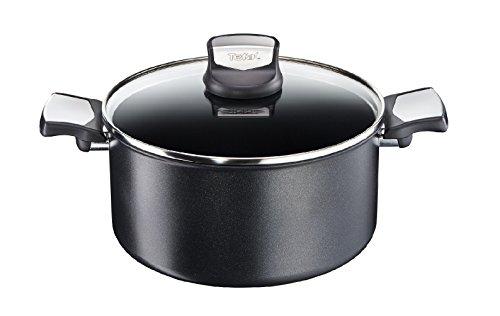 Tefal Expertise - Cacerola 20 cm y 2.9 L de capacidad, con tapa, antiadherente con extra de titanio, aptas para todo tipo de cocinas incluido inducción