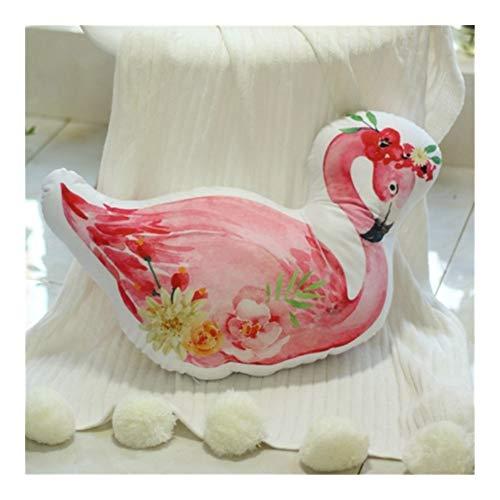 Yuhualiyi123 Kissen Flamingo Kissen Hochzeit Pressen Puppe EIN Paar Plüsch-Spielzeug Hochzeit Kissen Geschenk des Mädchens Kissen (Color : Garland, Size : 50 cm) -