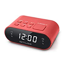 Muse M-10 Radio-réveil avec écran LED Rouge