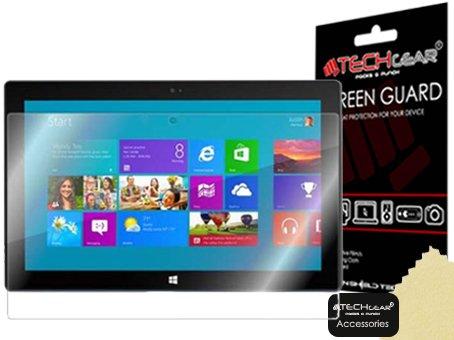 TECHGEAR [2 Stück Bildschirmschutz für Microsoft Surface RT/Surface Pro - Ultra Klare Schutzfolie für Microsoft Surface RT, Surface Pro - mit Reinigungstuch + Applikationskarte