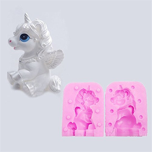 Ecovers, 2 moldes silicona fondant estilo unicornio