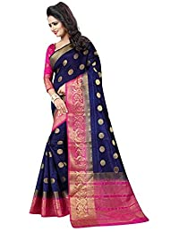 493e6b3add Amazon.in: Blues - Silk Sarees: Clothing & Accessories