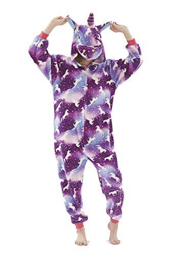 Unisex bambini e adulti pigiama unicorno anime 3d aggiorna flanella cappuccio pigiama tuta intera onesie stitch kigurumi ostume per compleanno carnevale cosplay festa halloween natale easter party
