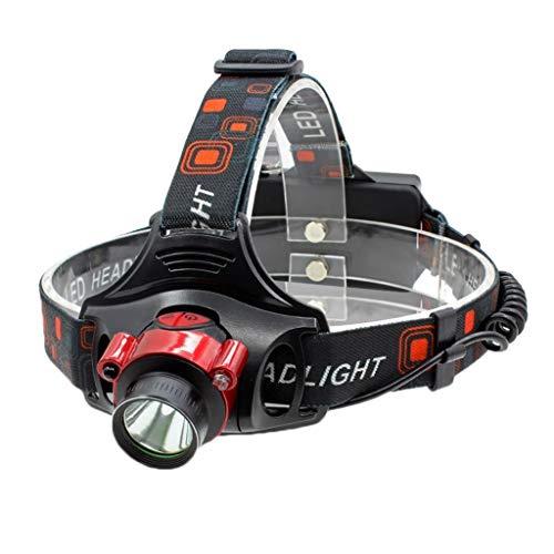 YROD light LED Lampe Frontale, Ergonomie Multifonction Lanterne USB Projecteur Ajustable Lampe de Poche Imperméable Capteur Mineur Pêche de Nuit Concentrer Zoom
