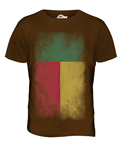 CandyMix Benin Verblichen Flagge Herren T Shirt Braun