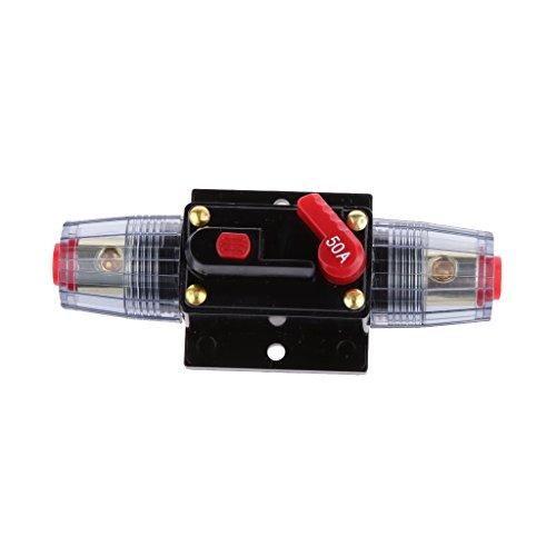 12V-24V Inline Auto eistungsschalte Manuellen Reset Schalter Car Audio Sicherung - 50a