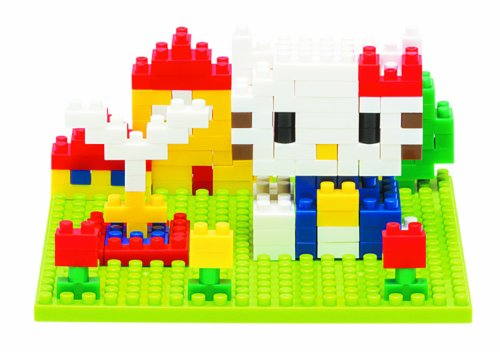 Unbekannt NANOBLOCK 14567 Block Art Hello Kitty 3D-Puzzle, Sights to See, 200 Teile -