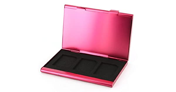 Protective holder for SD SDHC memory card case Aluminium Metal ZedLabz –Hot pink