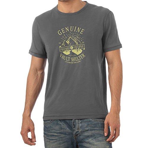 TEXLAB - Genuine Vault Shelter - Herren T-Shirt, Größe XXL, grau (Fallout 3 Vault Boy Kostüm)