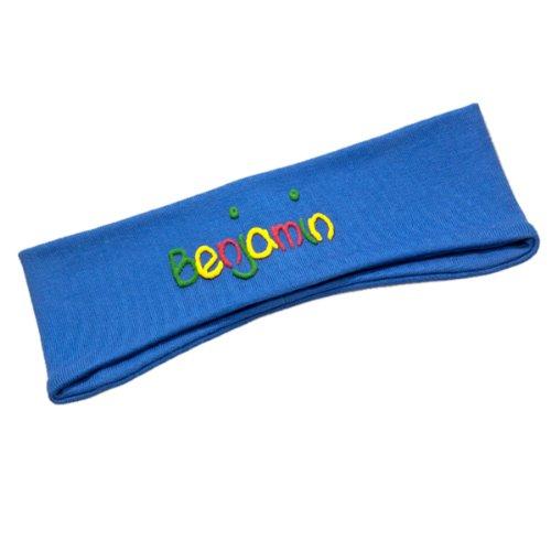 Ohrenstirnband mit Namen jeans Größe L ab etwa 5 Jahre (Schulkinder), Kinderstirnband, Stirnband mit Ohren, Ohrenschützer, Headband, Ohrenwärmer, schneller Versand