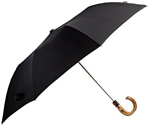 knirps-pocket-umbrella-topmatik-steel-line-crooked-handle-black