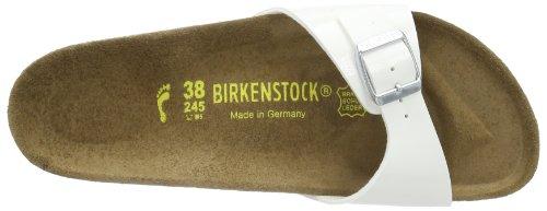 Birkenstock Kids MADRID  BF  LACK, Sabot bambina Bianco (Weiß (WEISS  LS PINK))