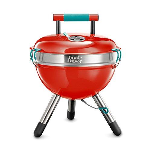 Tragbaren Holzkohle-grill Aus Stahl (Jamie Oliver Kugelgrill für Holzkohle Park tragbar 1.2 Stahl Park BBQ)