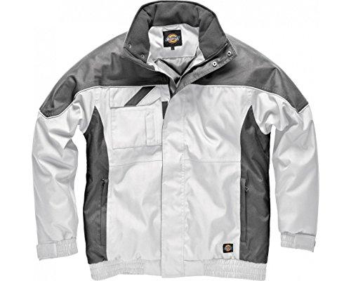 Weiße Wasserdichte Herren Jacke (Dickies Industrie Winterjacke, weiß, L, IN30060)