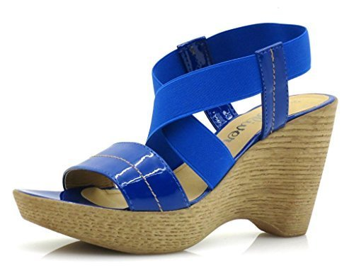 S.oliver mules wedge chaussures pour femmes wedge chaussures Bleu