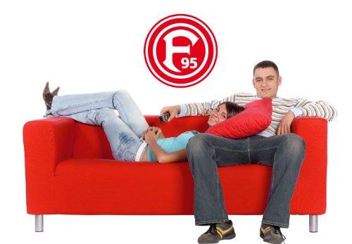 fortuna duesseldorf aufkleber Wandtattoo - Aufkleber – Fortuna Düsseldorf Logo, 28 cm Durchmesser