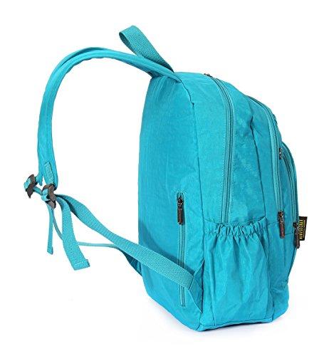 Tibes beiläufige wasserdichte Rucksack Laptop-Tasche Studenten schulrucksack Rosa