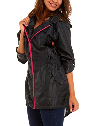 Women's Raincoat lightweight rain mac festival parka jacket Kagool