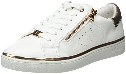 Tom Tailor 2792603, Baskets Basses Femme Blanc (white-rose-gold)