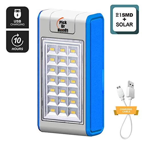 Best solar power bank in India 2020 Pick Ur NeedsTM Emergency 21 LED Wireless Solar Light with Power Bank, Wall Light and Lighting for Wall, Patio, Backyard, Emergency Light, Two Brightness Mode Image 2