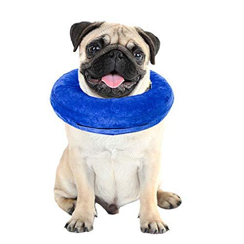 BVAGSS Aufblasbares Haustier Wiederherstellung E-Collar Recovery Kragen Hundehalsband für Hunde und Katzen XH003 (S, Blue)