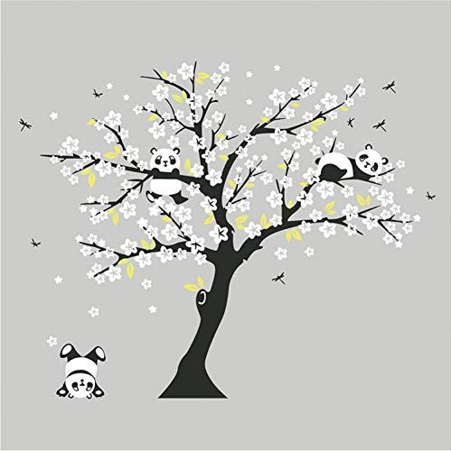 Cicixi Enorme Weiße Kirschblüten-Baum-Wand-Aufkleber-Kinderzimmer-Dekorative Abziehbilder, Die Panda Wall Decal for Kids Room Sofa Background Spielen (Kirschblüten-baum-wand-aufkleber)